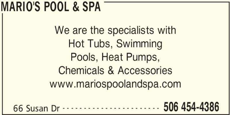 Mario 39 S Pool Spa Lincoln Nb 2330 Route 102 Canpages