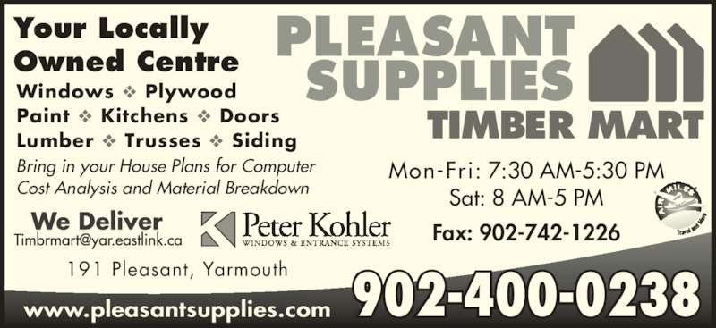 Pleasant Supplies Timber Mart Opening Hours 191