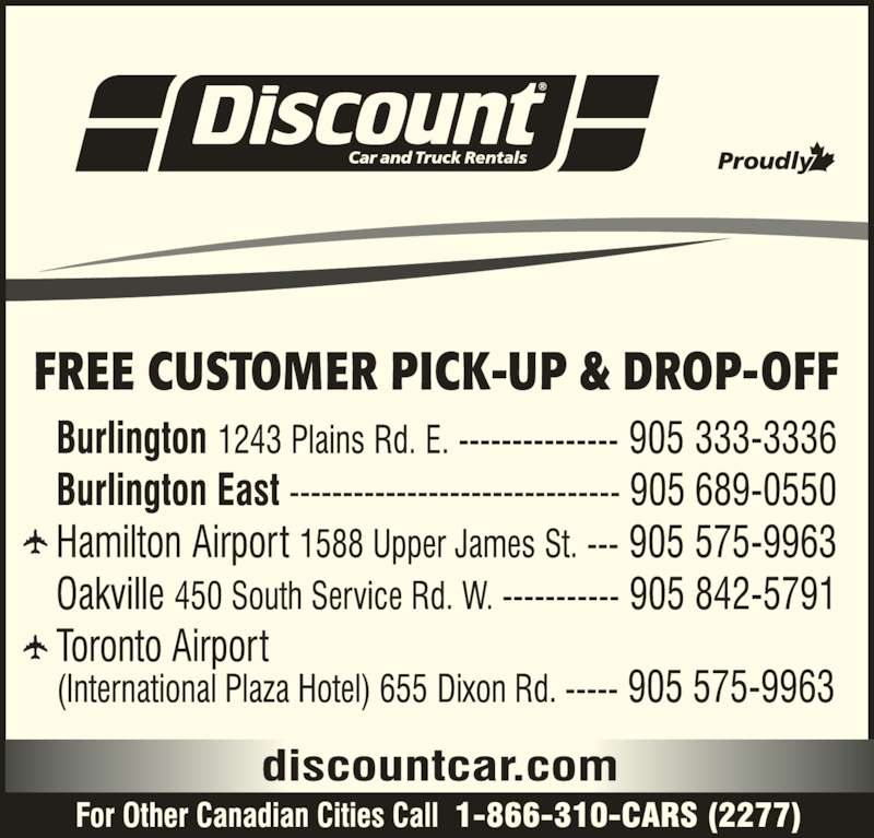 Discount Car And Truck Rental Toronto Airport