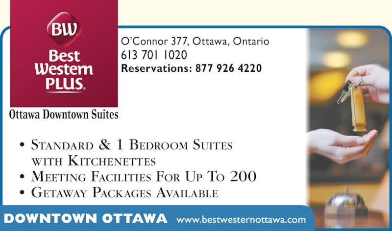 Best Western Plus Ottawa On 377 O Connor St Canpages