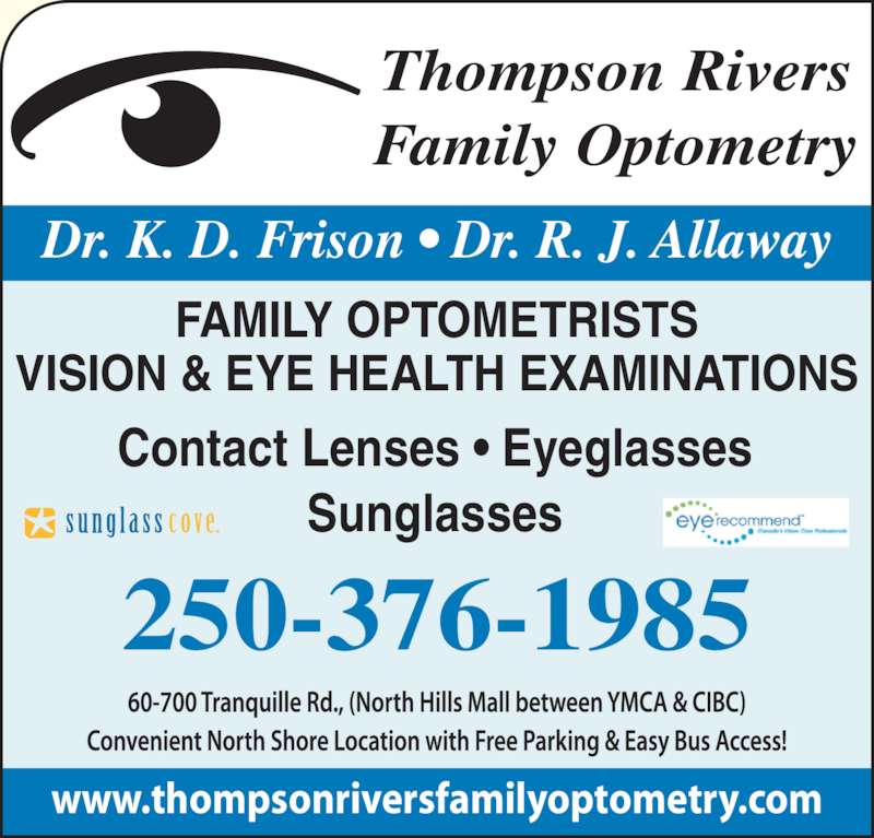 Thompson Rivers Family Optometry Opening Hours 60 700