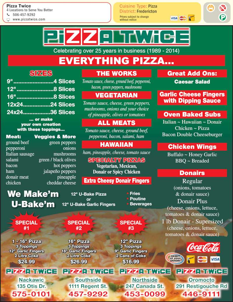 Oromocto Delivery Food