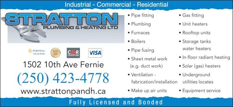 Stratton Plumbing Amp Heating Ltd Opening Hours 1502