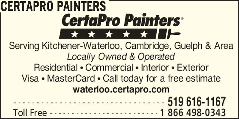 Certapro Painters Opening Hours