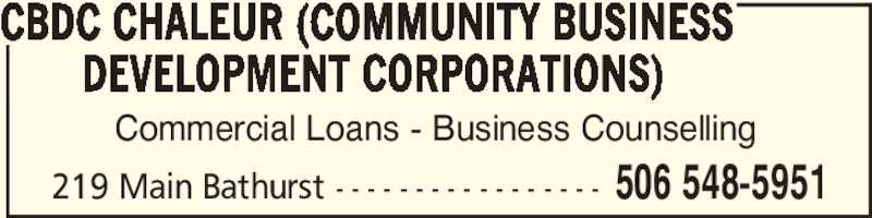 CBDC Chaleur Community Business Development Corporations Bathurst NB 2