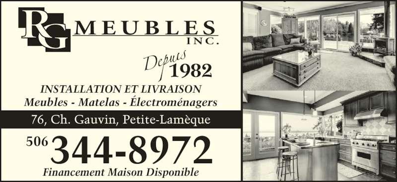 R g meubles enr petite lameque nb 76 ch gauvin for Meubles detaillants montreal