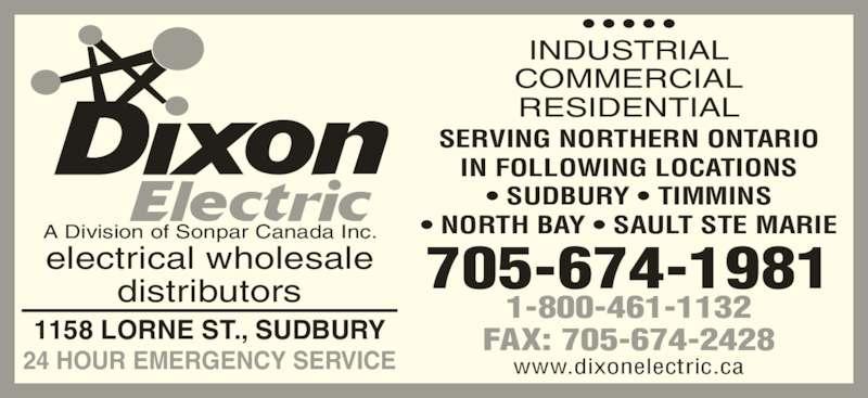 Dixon Electric Opening Hours 1158 Lorne St Sudbury On