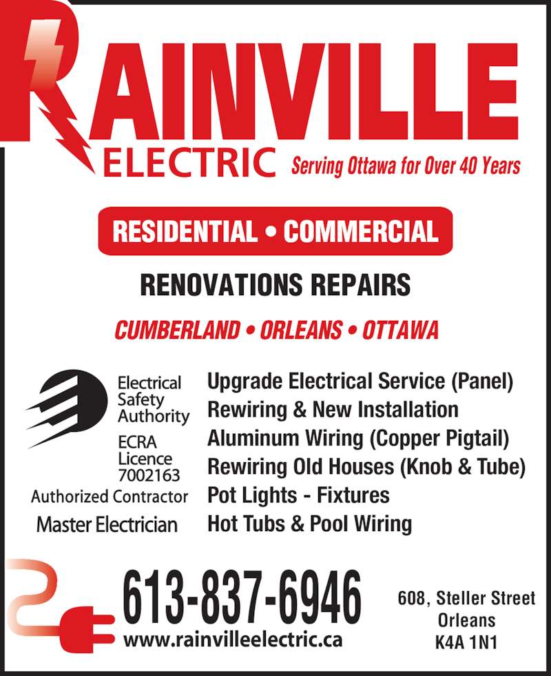 Rainville Electric Opening Hours 608 Steller St