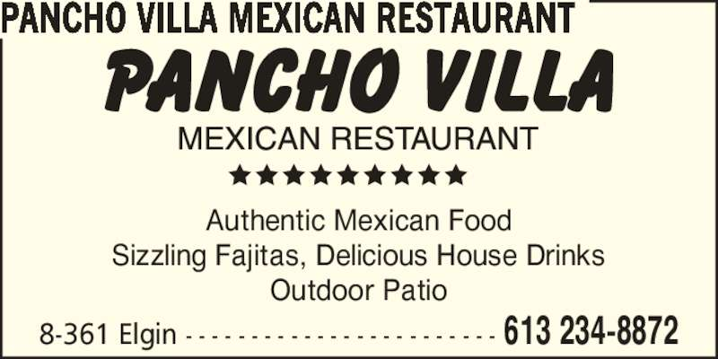 pancho villa mexican restaurant opening hours 361. Black Bedroom Furniture Sets. Home Design Ideas