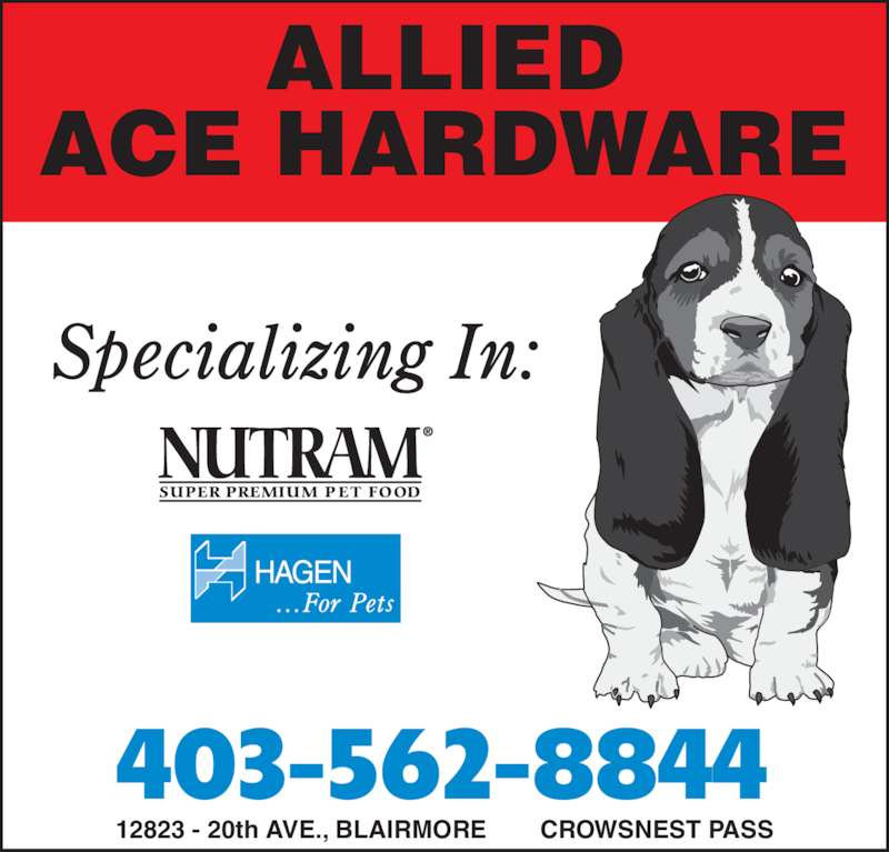Allied Ace Hardware (403-562-8844) - Annonce illustrée======= -