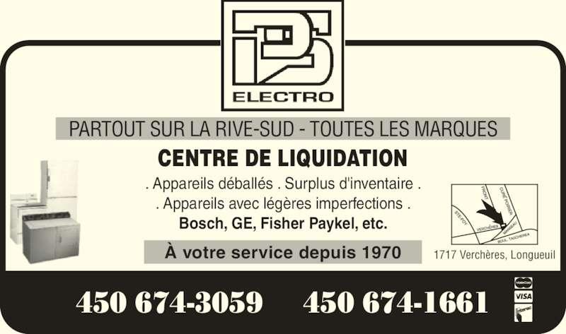 Duret Pierre Service (450-674-3059) - Annonce illustrée======= - ? votre service depuis 1970 PARTOUT SUR LA RIVE-SUD - TOUTES LES MARQUES 1717 Verch?res, Longueuil CENTRE DE LIQUIDATION . Appareils d?ball?s . Surplus d'inventaire . . Appareils avec l?g?res imperfections . Bosch, GE, Fisher Paykel, etc. 450 674-3059  450 674-1661