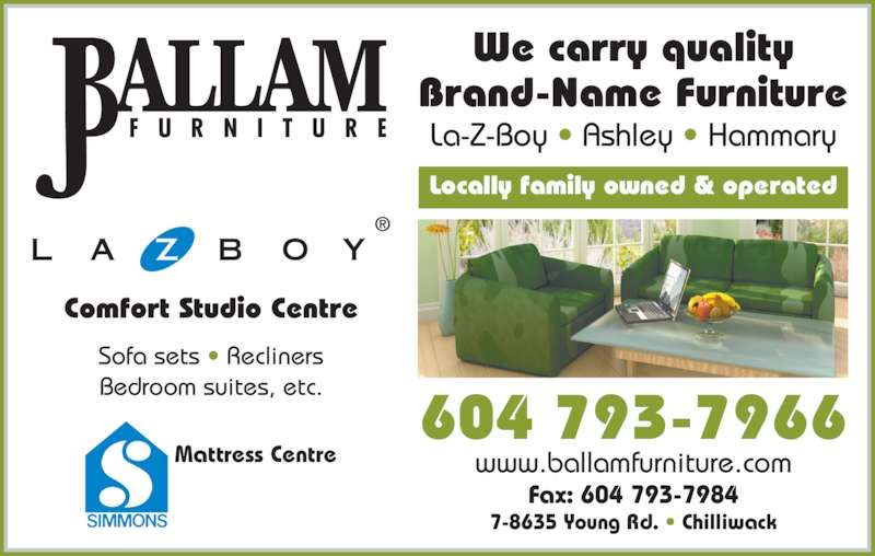 J Ballam Furniture Gallery Opening Hours 7 8635 Young