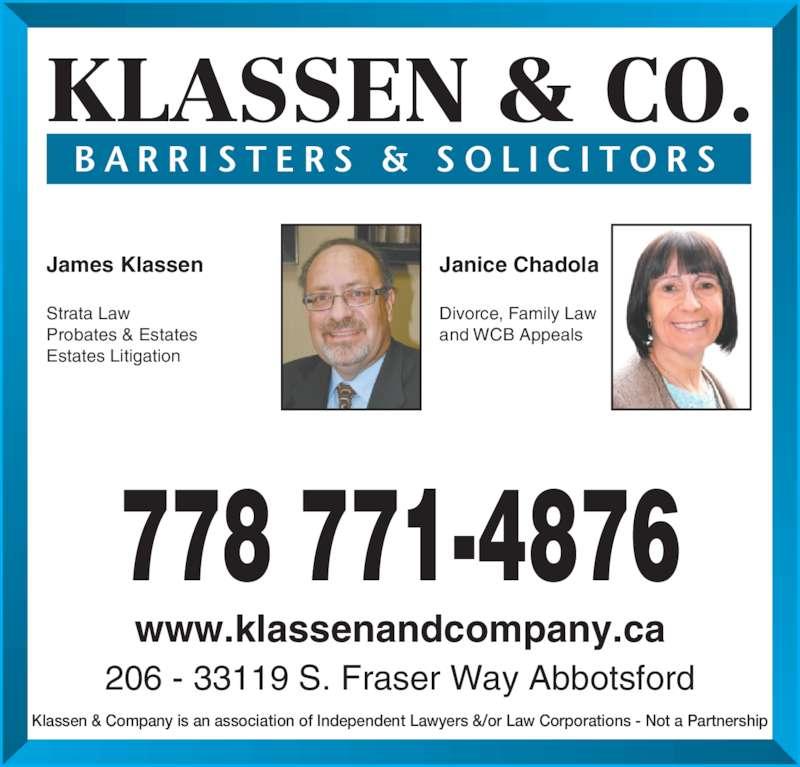 Ads James J Klassen Law Corp