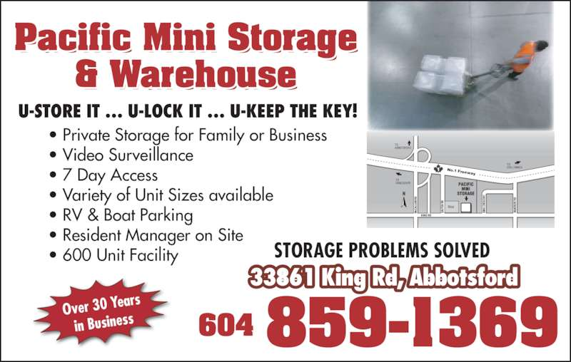 pacific mini storage warehousing opening hours 33861 king rd abbotsford bc. Black Bedroom Furniture Sets. Home Design Ideas