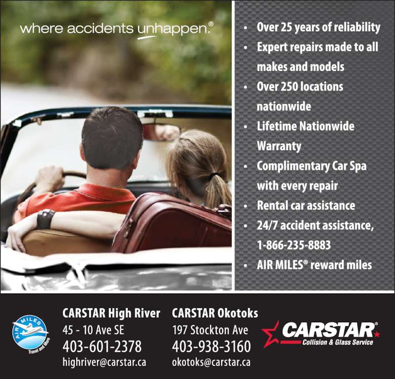 Carstar High River Collision Repair Centre (403-601-2378) - Display Ad -