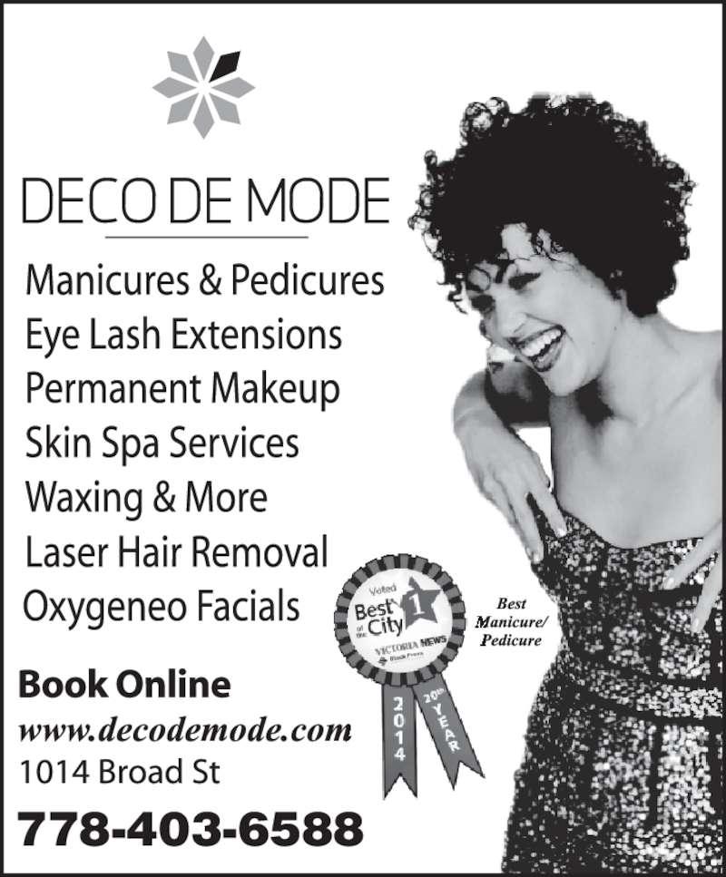 Deco De Mode Beauty Bar (250-380-6533) - Display Ad - 778-403-6588