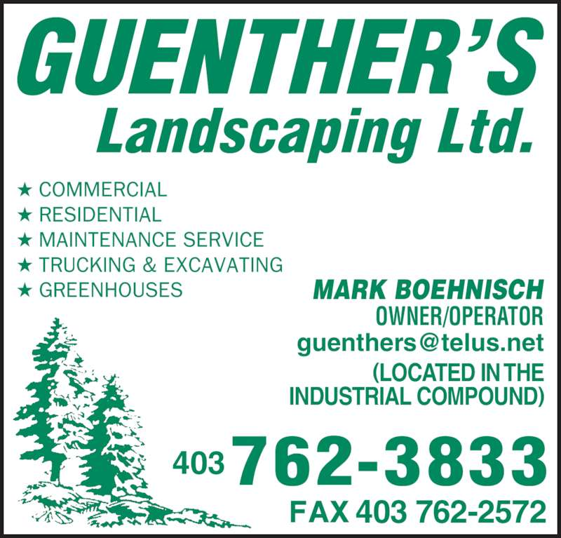 Guenthers Landscaping (2006) Ltd - Banff, AB - 102 Owl St Canpages