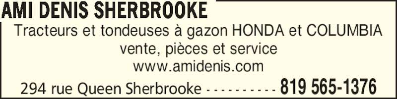 Ami denis sherbrooke horaire d 39 ouverture 294 rue for Columbia honda service