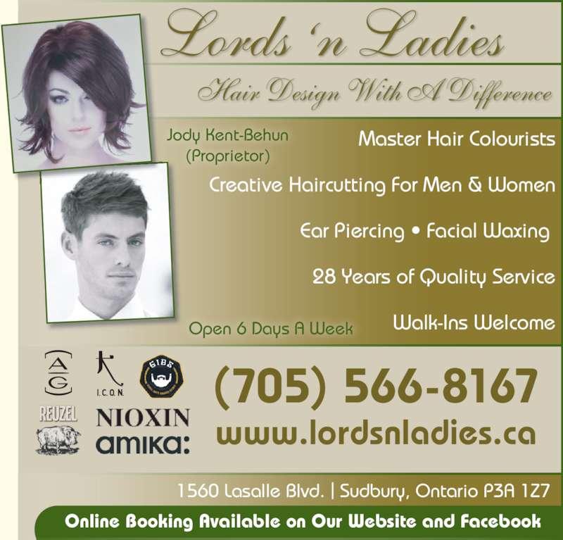 Lords N Ladies Hair Design Sudbury