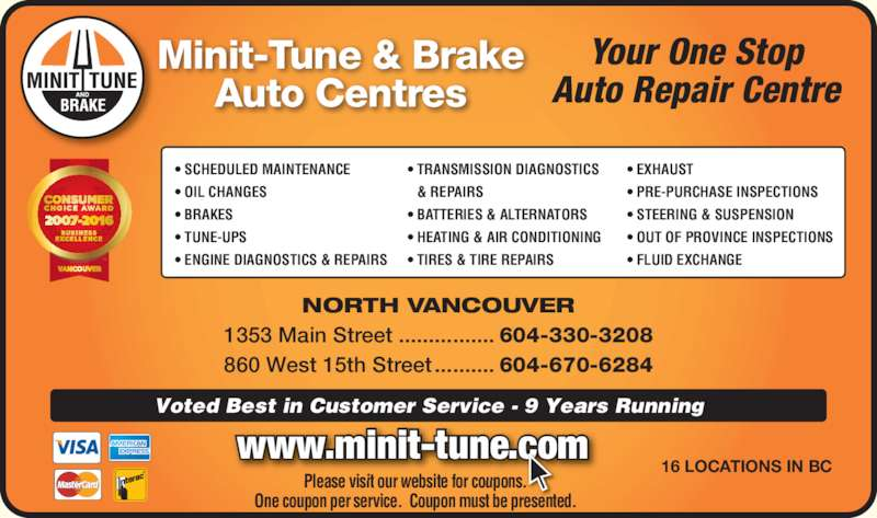 Tune up service coupons