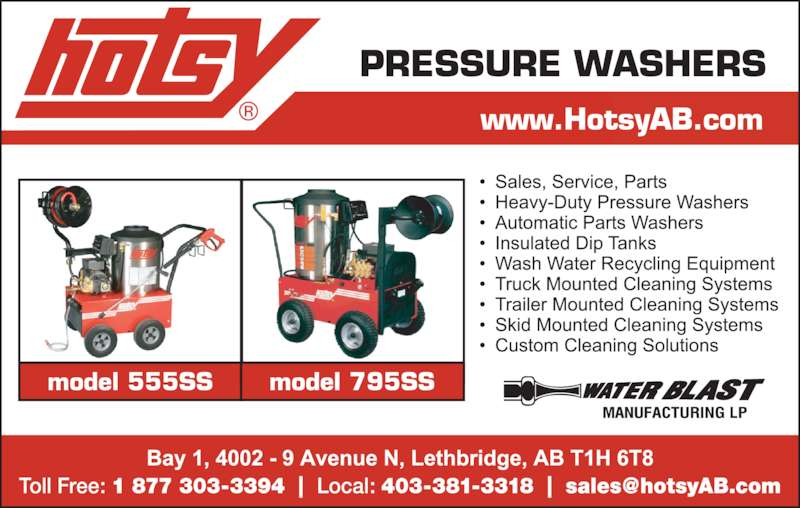 Classified Ad For Sale Car Wash Equipment: Hotsy Pressure Washers