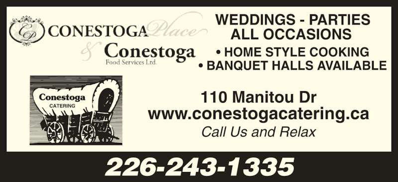 Conestoga Foods (519-578-1030) - Display Ad - 226-243-1335