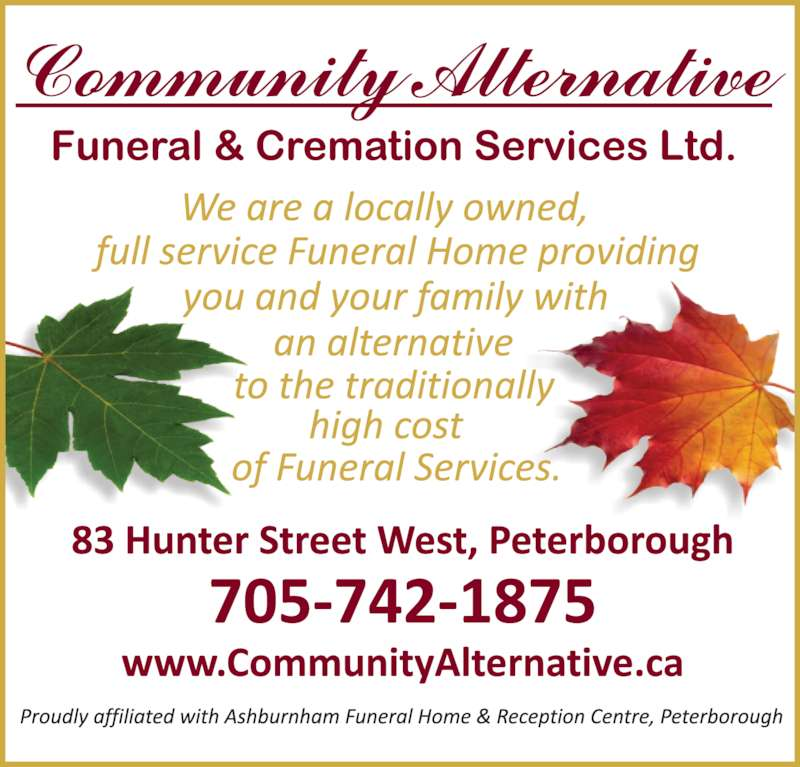 Alternative Funeral Home Peterborough
