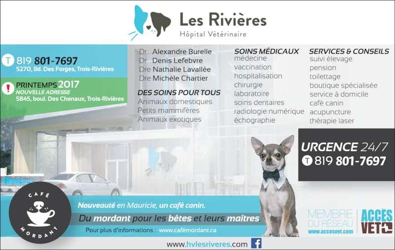 H pital v t rinaire les rivi res inc horaire d 39 ouverture for Service veterinaire cuisine