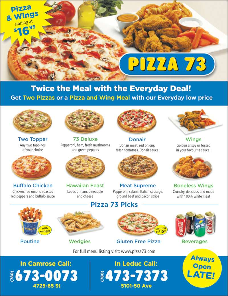 Pizza 73 (7804737373) - Display Ad -