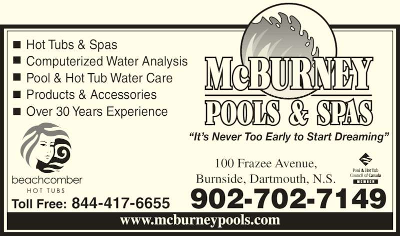 Mcburney Pools Spa Opening Hours 100 Frazee Ave Halifax Ns