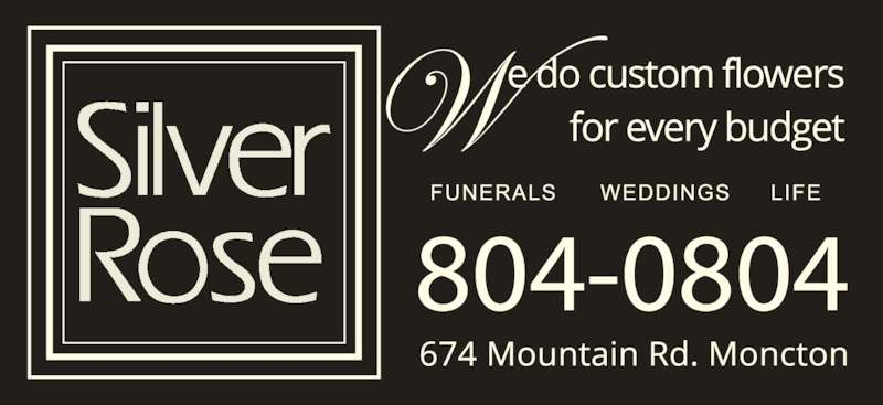 Silver Rose Emotions (506-855-5551) - Display Ad - 804-0804