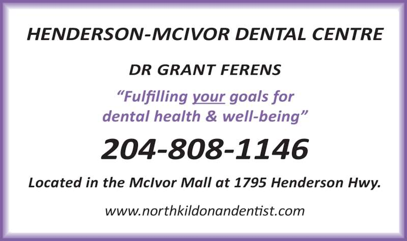 McIvor Dental Centre (2043380347) - Display Ad -