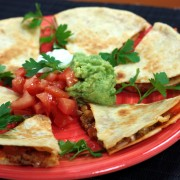 2 quick and easy quesadillas