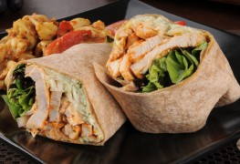 Rock your lunch: Asian-inspired sesame chicken wraps