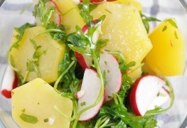 How to make warm potato and lima bean salad