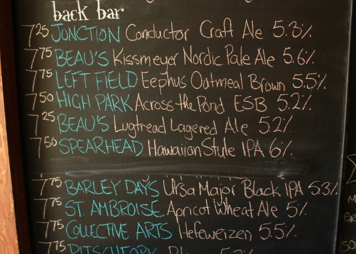 The craft list at 3030 is displayed on a near floor-to-ceiling chalkboard.