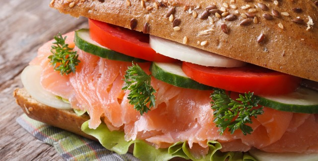 Pack a salmon sandwich with wasabi mayonnaise