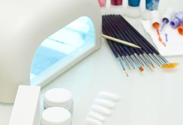 What equipment is used for a manicure?