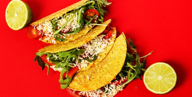 Fast and easy veggie tacos with homemade salsa and guacamole