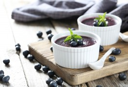 Recipe to beat high blood pressure:  blueberry Bavarian