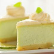Dessert on a diet: kiwi cheesecake with lime honey