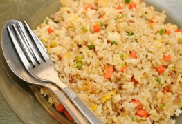 Vegetable side dishes: vegetable fried rice