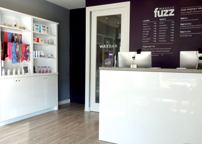 Fuzz Wax Bar - Toronto's first wax bar features a clean and welcoming interior.