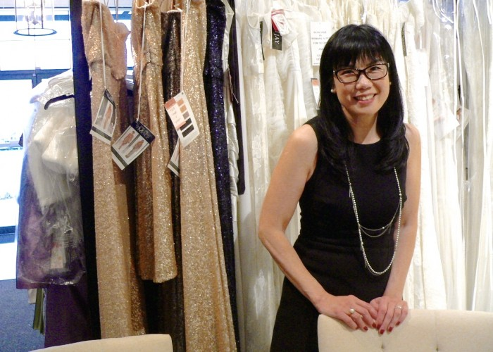 Owner Ella Lau spent years working in the fashion industry before launching her Richmond bridal boutique.