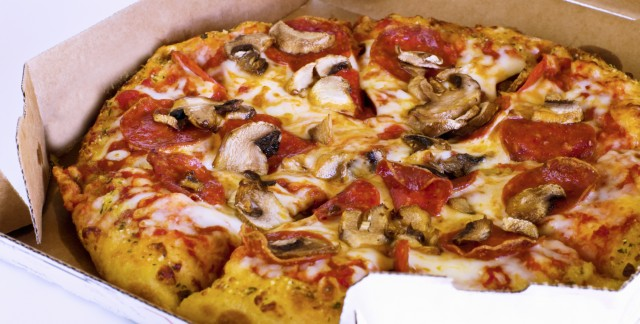 The delicious delights of a mushroom pizza