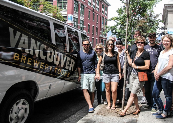 The Vancouver Brewery Tours van has room for 14 individuals with plenty of space for growlers and beer bottles in the back.