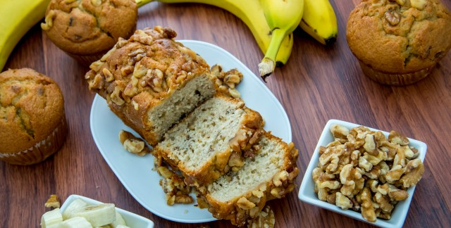 Decadent homemade banana nut bread