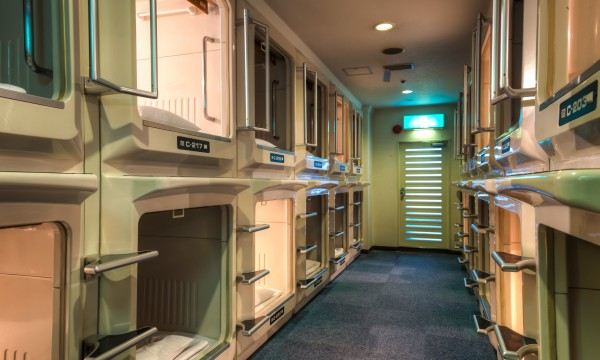 What is a capsule hotel?