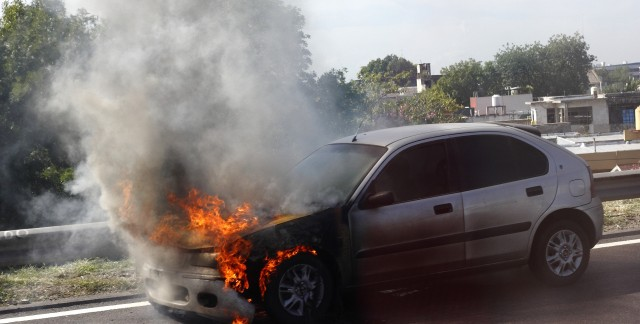 Preventing and dealing with a vehicle fire