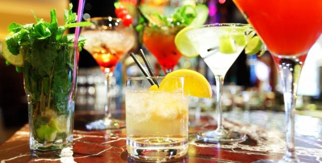 Homemade drinks: orange blossom and berry orange shrub